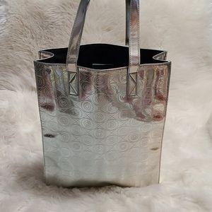 Kenzo World Perf Metallic Tote Bag